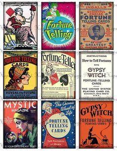 Vintage Fortune Teller Gypsy Advertisement by HopePhotoArt on Etsy