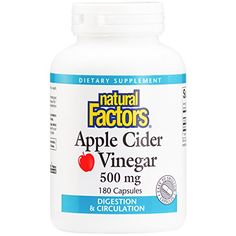 Natural Factors  Apple Cider Vinegar 500mg Supports Healthy Digestion 180 Capsules -- Check this awesome product by going to the link at the image.