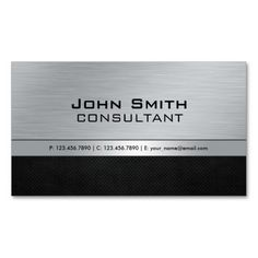 Professional Elegant Modern Black Silver Metal Business Card Template. Make your own business card with this great design. All you need is to add your info to this template. Click the image to try it out!