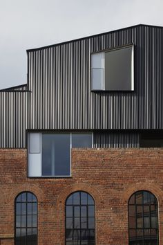 Celebrating its original industrial nature Project Orange has renovated 192 Shoreham Street, a traditional brick building in Sheffield, England. Architecture Metal, Architecture Durable, Contemporary Architecture, Amazing Architecture, Orange Architecture, Installation Architecture, Building Architecture, Architecture Portfolio, Design Exterior