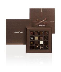 Gift box from Armani & Dolci.  Posh chocolate.