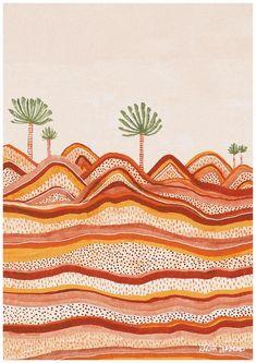Contoured Lands~ Australian illustrator and graphic designer, Karina Jambrak, creates hand drawn illustrations based on nature's colours and patterns. Fine Art Prints, Wall Art Prints, Modern Art Prints, Wal Art, Plakat Design, Illustrator, Colorful Artwork, Nature Artwork, Art Graphique
