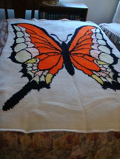 Ravelry: Butterfly Afghan pattern by Bonita Bray