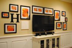 gallery around the tv