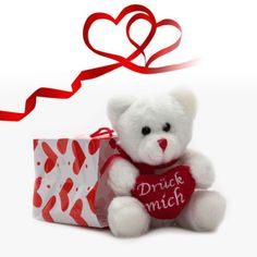 Liebeserklärung, Einladung oder aufmunternde Worte: Der Plüschbär mit Aufnahmefunktion überbringt Deine Wunschbotschaft an einen geliebten Menschen. via: www.monsterzeug.de