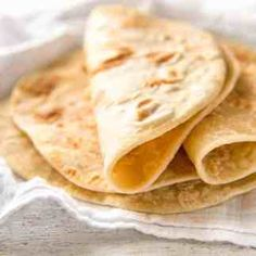 Stack of easy soft flatbread no yeast