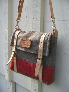 upcycle an old blanket to make a bag.