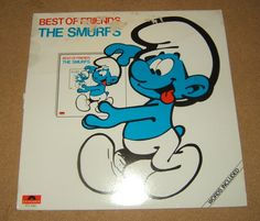 The Smurfs LP Best of Friends. Words Included. Made in Canada.    Condition: Used Good