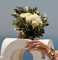 Roses & olive brunches! Perfect for a wedding in Greece!