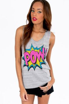 FUN! Pow Wow Tank Top $25 at www.tobi.com