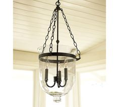 If I could transform the ugly foyer light into this, that would be awesome   Remodelaholic » Blog Archive Pottery Barn Inspired DIY Chandelier Makeover » Remodelaholic