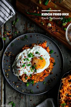 Simple Kimchi Bokkeumbap (김치 볶음밥) Kimchi fried rice with a quick video tutorial.