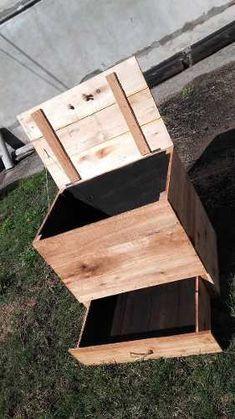Compost Container, Interior Exterior, Garden Ideas, Stool, Recycling, Home And Garden, Diy, Furniture, Home Decor