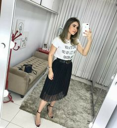 Pin by Brooke Chadwick on Clothes in 2019 Modest Outfits, Skirt Outfits, Casual Outfits, Cute Outfits, Skirt Fashion, Fashion Outfits, Womens Fashion, Modesty Fashion, Pinterest Fashion