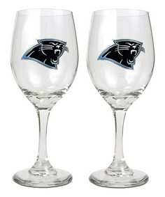 This Carolina Panthers Wine Glass | Set of Two