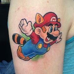 Raccoon Mario tattoo done by @sirinksaloy.  #tattoos #ink #videogametattoo #gamertattoo #gamerink #videogames #gamer #gaming #nintendo #nes #raccoonmario #mario #supermariobros3 #mariobros
