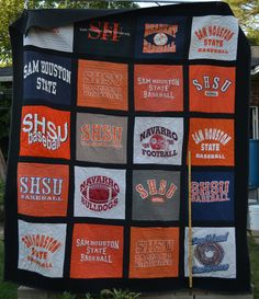 Go Sam Houston State! This is a nice full size t-shirt quilt. 25 shirts