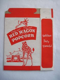 Delightful Vintage Popcorn Box w Giraffe and Circus Wagon | eBay