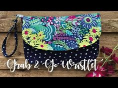 Grab and Go Wristlet Bag Bag Patterns To Sew, Sewing Patterns Free, Free Sewing, Quilting Patterns, Modern Quilting, Handbag Patterns, Pattern Sewing, Diy Wallet Pattern Free, Free Pattern