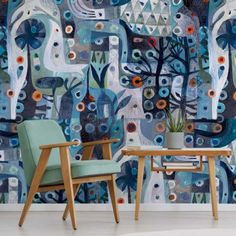 Buy Wallpaper Designs by Este MacLeod - Robin Sprong Wallpapers Wallpaper Designs, Print Wallpaper, Textured Wallpaper, Custom Wallpaper, Designer Wallpaper, Fabric Textures, Hand Illustration, Free Paper, Surface Design