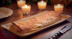 Strudle de #bacalhau e #couve com #chouriço, cofeccionado pelo Chef José Avillez