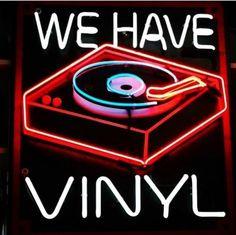 We have vinyl neon sign Vinyl Music, Vinyl Records, Sun Records, Purple Tumblr, Cool Neon Signs, Neon Licht, Neon Led, Neon Words, Vinyl Junkies