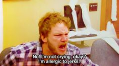 I'm allergic to jerks! ~ Andy Dwyer ~ Parks and Recreation Parks And Rec Characters, Parks And Recs, Parks And Rec Quotes, Parks And Recreation, Photo Recreation, Tv Quotes, Funny Quotes, Lito Rodriguez, Andy Dwyer