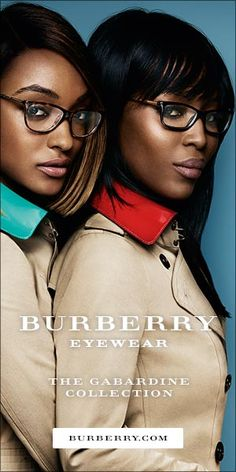 f2a7e56c28 Jourdan Dunn and Naomi Campbell haved joined forces for Burberry s new  eyewear campaign.