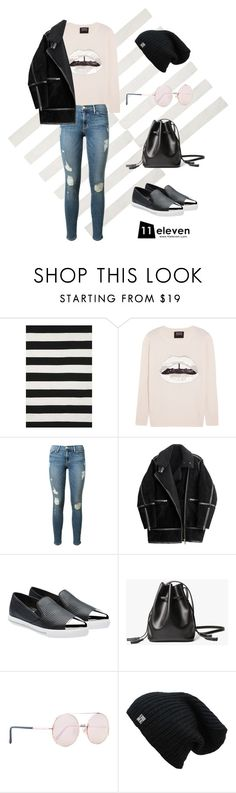 """Pilot Jacket × Sequined Sweater × Skinny Jeans"" by hielevencom ❤ liked on Polyvore featuring Liora Manné, Markus Lupfer, Frame Denim, H&M, Miu Miu, Sunday Somewhere, women's clothing, women, female and woman"