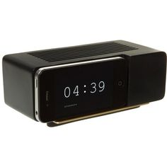 Areaware: IPhone 4 Alarm Dock Black, At Off!