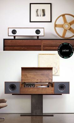 #BEST OF #NEW YORK DESIGN WEEK 2013 | Yatzer Tabletop Hi-fi speaker and Modern Record Console by Symbol Audio.