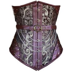 Steampunk Corset ❤ liked on Polyvore featuring intimates and shapewear