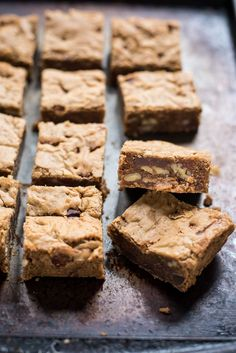 These Brown Butter Blondies studded with chocolate chips and pecans are the perfect dessert.
