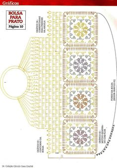 Crochet Fancy Flower Bag – Diagram by esperanza – Knitting patterns, knitting designs, knitting for beginners. Crochet Diagram, Crochet Chart, Love Crochet, Crochet Motif, Crochet Flowers, Crochet Stitches, Crochet Top, Purse Patterns, Shawl Patterns