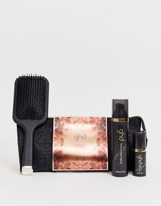 Ghd Protect & Finish Style Set-no Color Ceramic Hair Straightener, Travel Hairstyles, Paddle Brush, Silver Flats, Ghd, Quilted Bag, Protective Hairstyles, Hair Brush, Face And Body