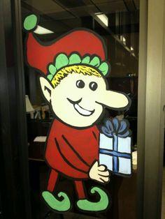 Elf 2 Elf 2, Window Art, Xmas, Paintings, Fictional Characters, Paint, Christmas, Painting Art, Navidad