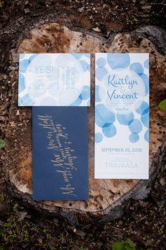 bubbly invitations // photo by She-N-He Photography // http://ruffledblog.com/texan-garden-wedding-ideas