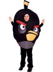 Boys Black Angry Birds Costume