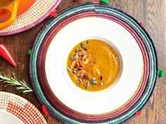 NEW VIDEO on youtube for my sumptuous Moroccan spiced soup with plantain crisps.