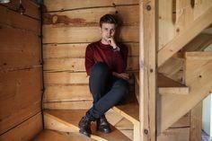 Bordowy sweter męski, Blog o modzie męskiej, Mężczyzna w bordo, GMALE by Grzegorz Paliś, Blog modowy, Męski LIfestyle, Leśniakówka