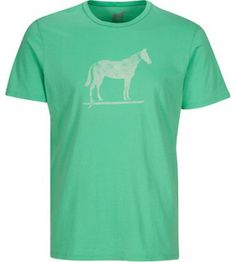 Men's Suring Horse organic cotton tee shirt available at www.tarakiwi.com $39.50