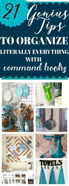 21 Genius Tips To Organize Literally Everything With Command Hooks