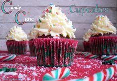 Candy Cane Schoko-Minz Cupcakes