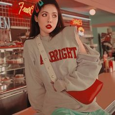 Find images and videos about kpop, aesthetic and icon on We Heart It - the app to get lost in what you love. Hyuna Fashion, Kpop Fashion, J Pop, Korean Aesthetic, Red Aesthetic, Aesthetic Outfit, Kpop Girl Groups, Kpop Girls, Kpop Boy