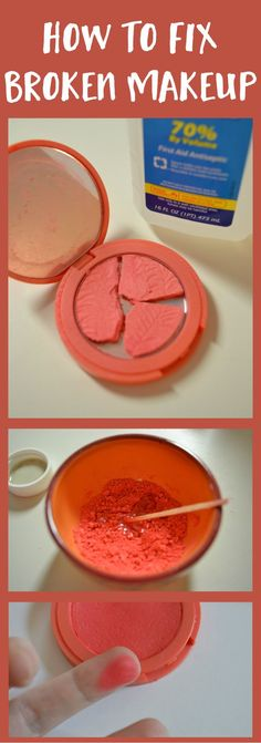 Whether you need to fix a broken blush, powder or eye shadow pan this tutorial works for them all. It is quick and easy. Makes them good as new!   | thisgirlslifeblog.com
