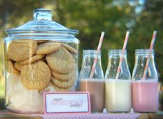 Milk and Cookies kid birthday party