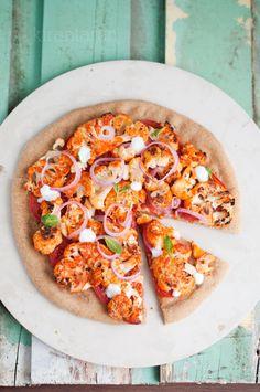 Tandoori Cauliflower Pizza (make with cauliflower crust?)