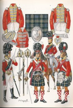Napoleonic Military Paintings/Sketches/Uniform Plates - page 7 - Historical Discussion - Flying Squirrel Entertainment British Army Uniform, British Uniforms, British Soldier, Military Art, Military History, Best Uniforms, Military Uniforms, Bataille De Waterloo, Waterloo 1815