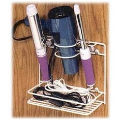 Hair Dryer Organizer and Curling Iron Holder - Mounts to the Cabinet Door image
