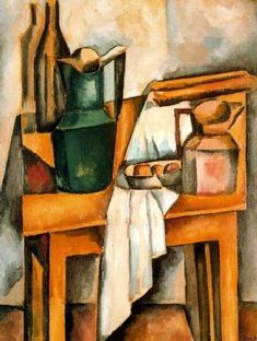 """Pintura a óleo sobre tela de Andre Derain - """"Nature morte avec table"""" (1910)"""